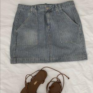 Madewell seersucker denim skirt